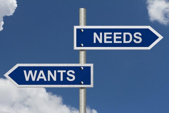 Dissocier les désirs des besoins (finances personnelles)