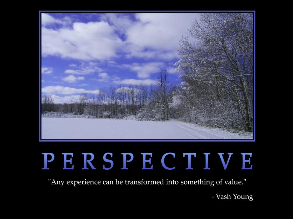 Ralentir pour apprécier - Perspective
