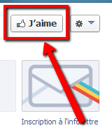 J'aime sur Facebook