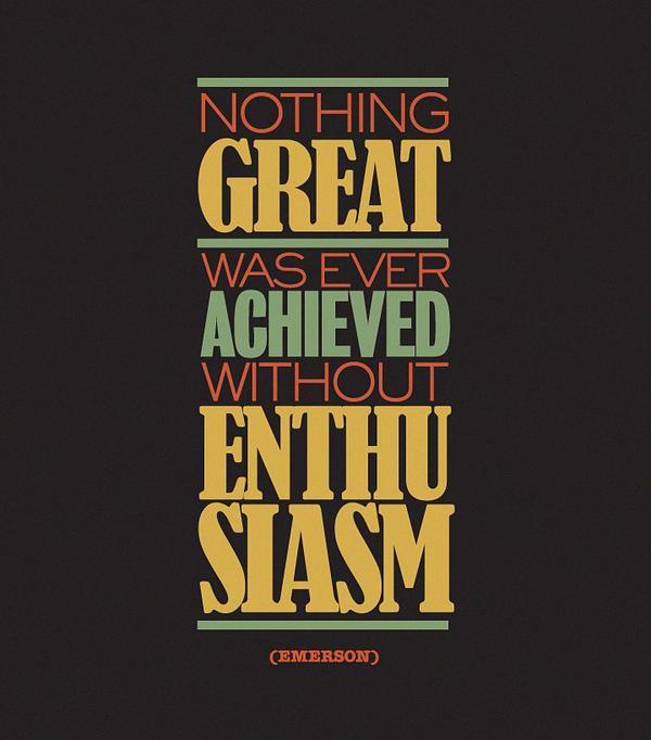 Doublez votre niveau d'enthousiasme.